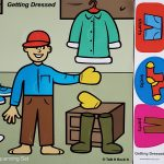 Getting Dressed Language Set Board and Back