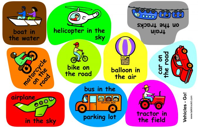 Vehicles Language Set Board