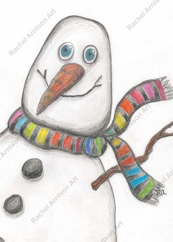 Snowman Greeting Card 1