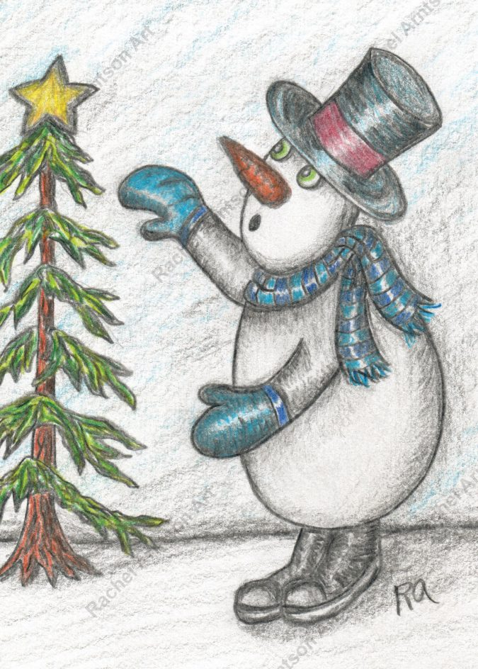 Snowman Greeting Card 10