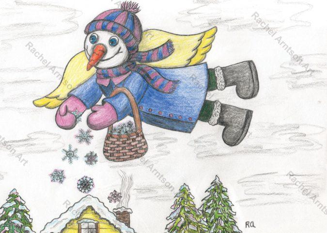 Snowman Greeting Card 2