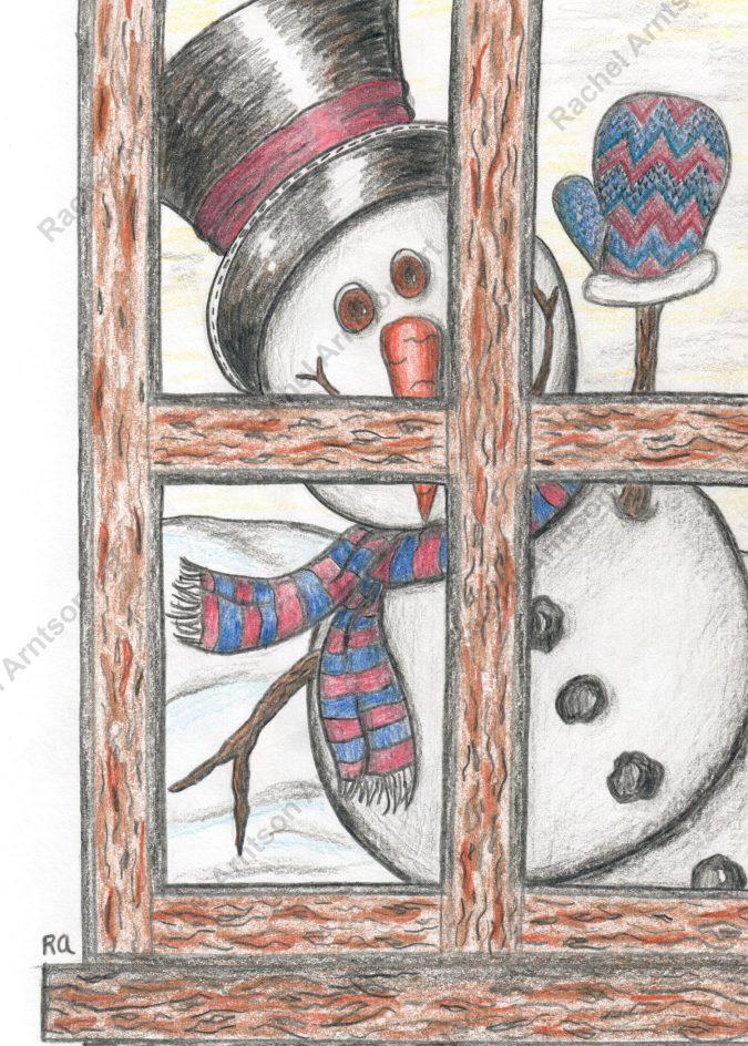 Snowman Greeting Card 3
