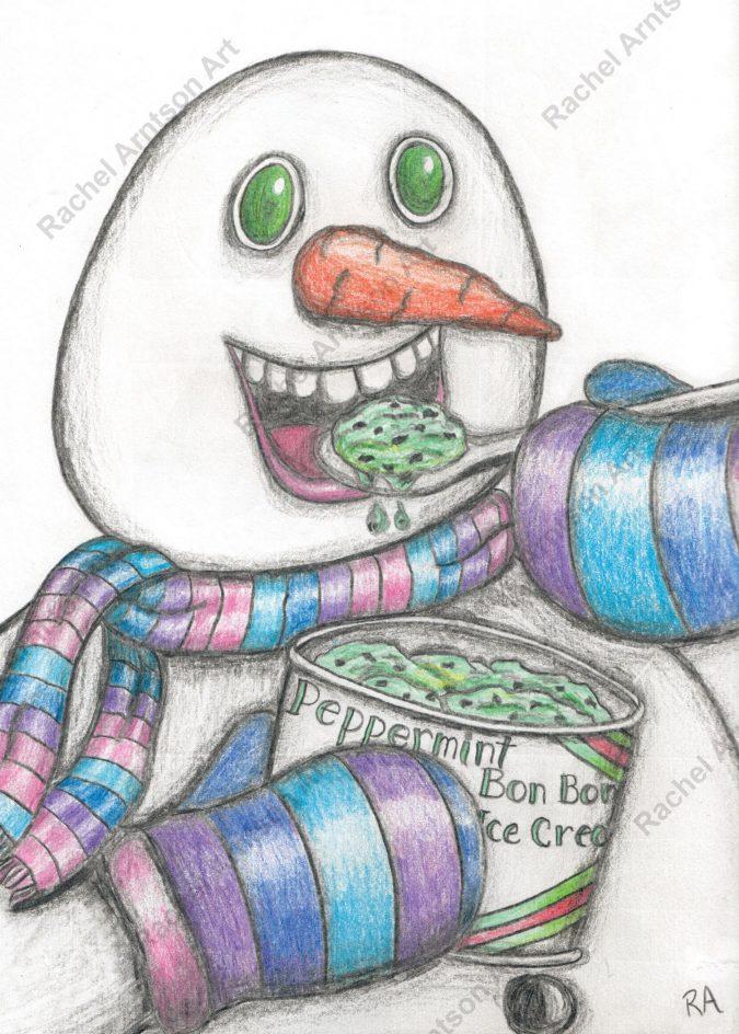 Snowman Greeting Card 4