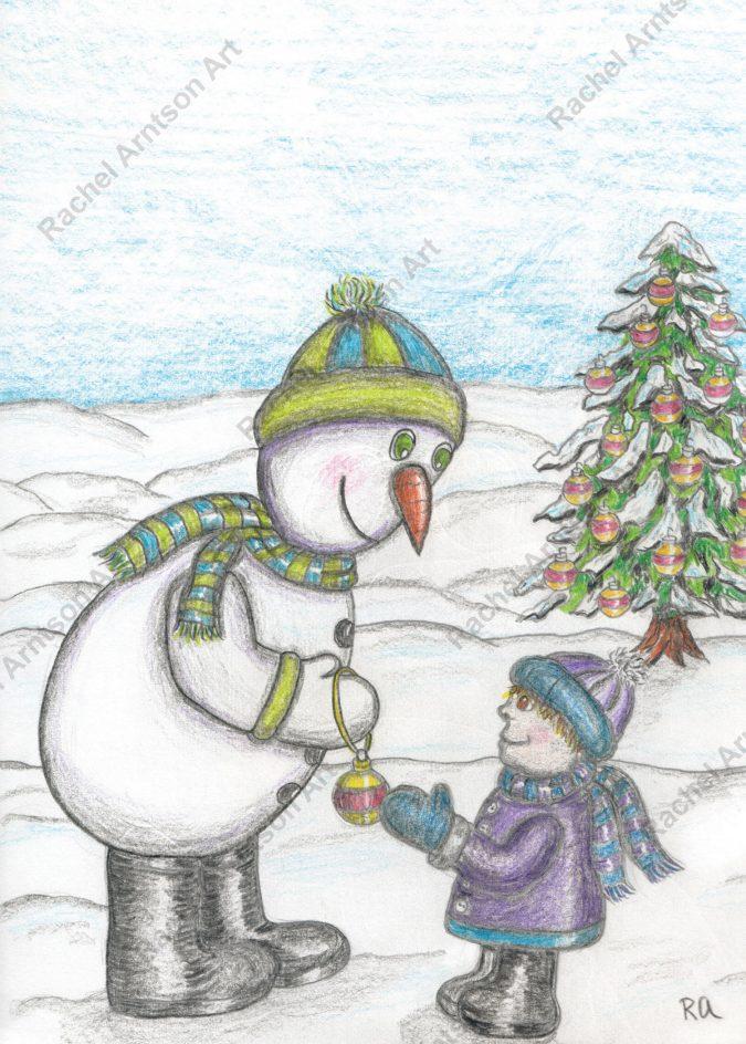 Snowman Greeting Card 6