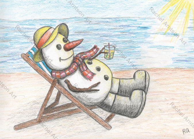 Snowman Greeting Card 7