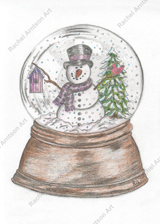 Snowman Greeting Card 8