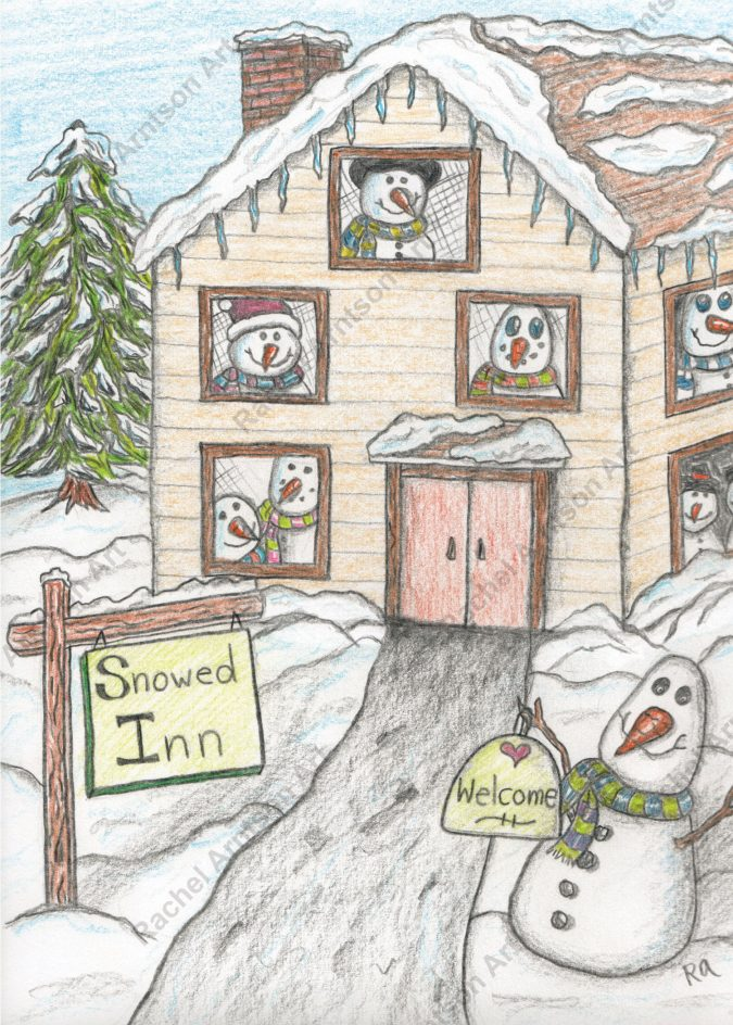 Snowman Greeting Card 9